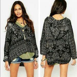 Free People Soft Wool Knit Dolman Sleeve Sweater M